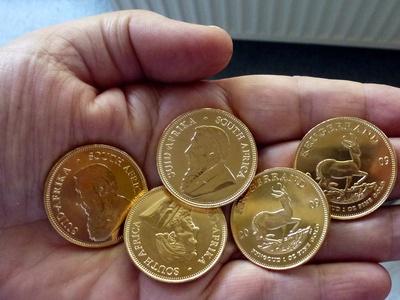 5 Krügerrand Münzen